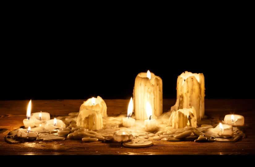 significado de las velas cuando se derriten