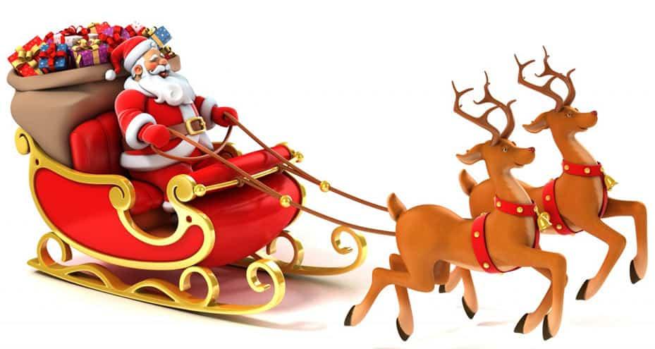 papa noel representando la navidad