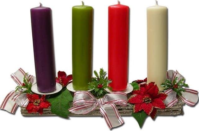 significado de las velas de la corona de adviento
