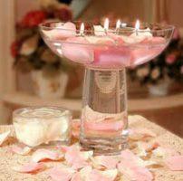 centro de mesa con velas para 15 años