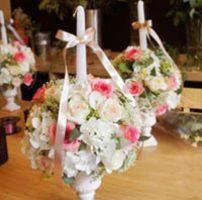 mesa decorada con velas para 15 años