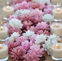 velas para decorar centros de mesa