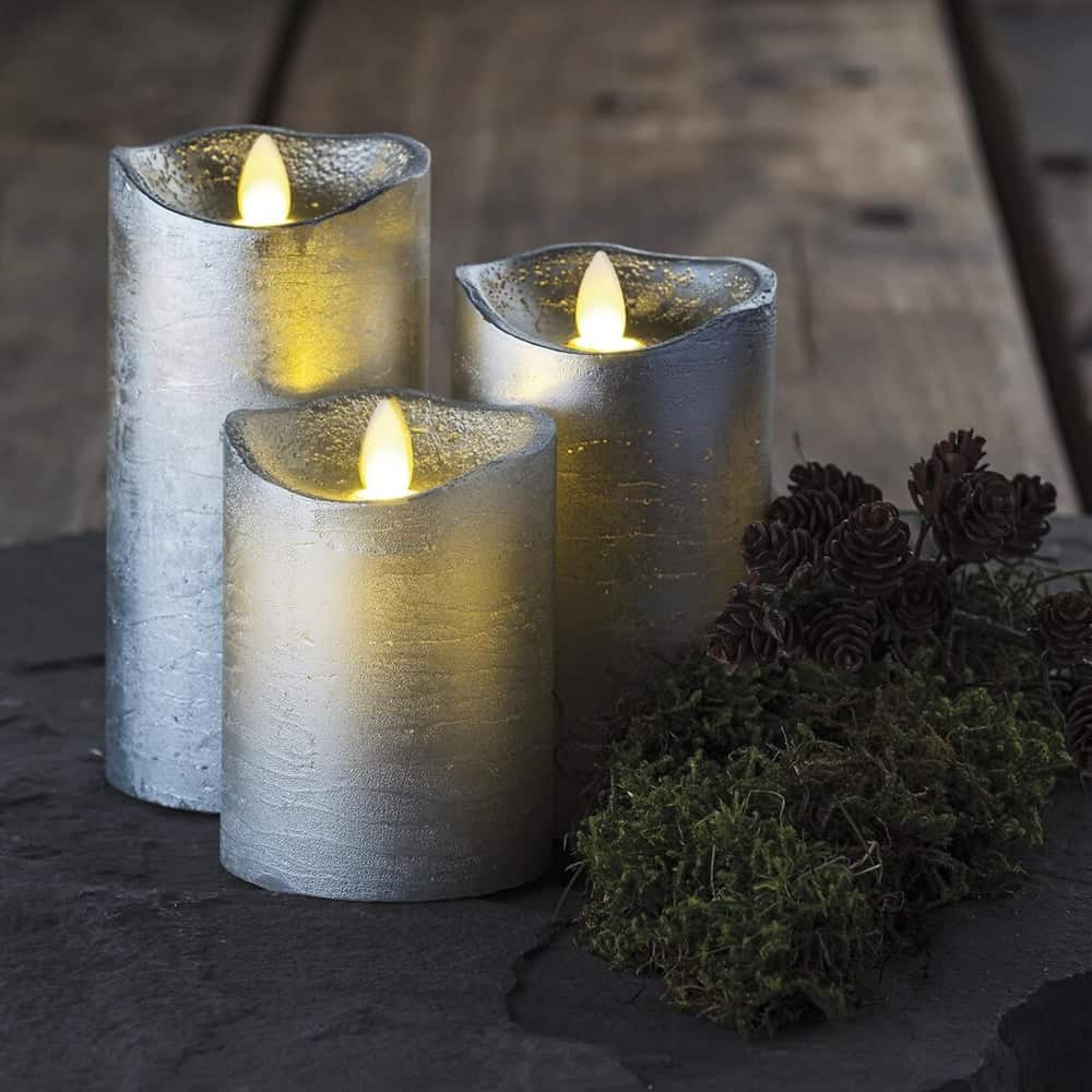 velas plateadas