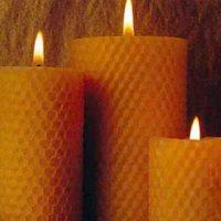 velas de cera de abeja virgen