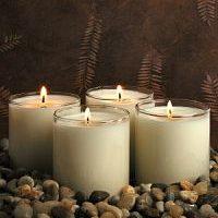 velas de cera de soja