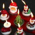 velas decorativas de papa noel