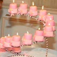 velas para celebración de fiesta de 15 años