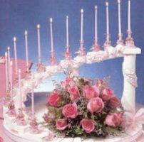 velas rosas para fiesta de 15 años