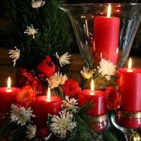 Las velas rojas de navidad