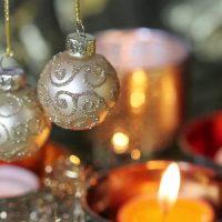 Velas Blancas de navidad
