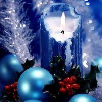 centro con velas azules