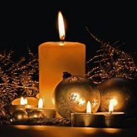 color de la vela de navidad