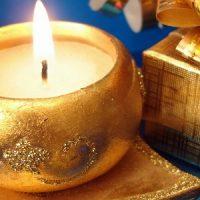 como son las velas de navidad