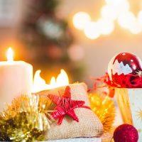 decoración con velas de navidad
