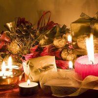 decoración de velas para navidad