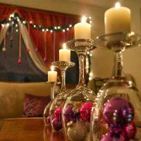 imagen de velas de navidad en HD