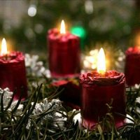 la vela de navidad