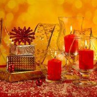 las velas de navidad