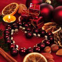 mesa de centro de velas de navidad