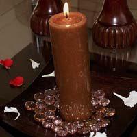 rituales con velas marrones
