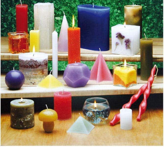 Tipos de velas de cera