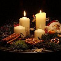 vela blanca para decorar