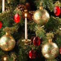 vela blanca para decorar el arbol de navidad