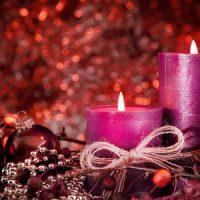 vela morada para navidad