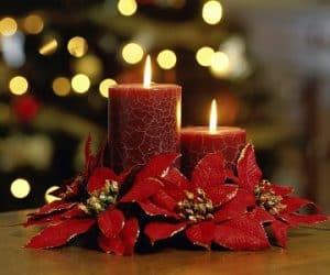 vela roja para navidad