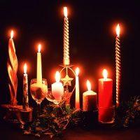 velas blancas de navidad decoracion