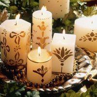 velas blancas para decorar