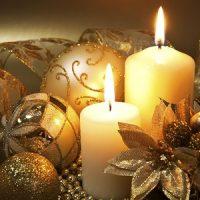 velas blancas para decorar en navidad