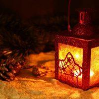 velas con decoracion navideña