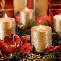 velas de adviento de navidad