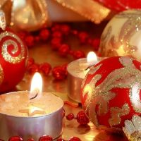 velas de disco decoradas para navidad