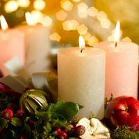 velas decorativas blancas para navidad