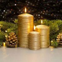 velas doradas para decorar en navidad