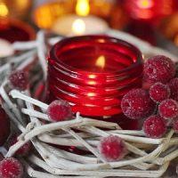 velas rojas de navidad