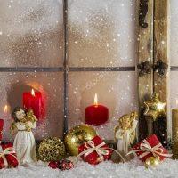 velas rojas en la navidad