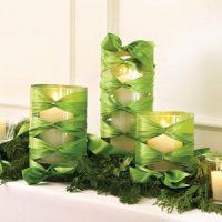 velas verdes de navidad